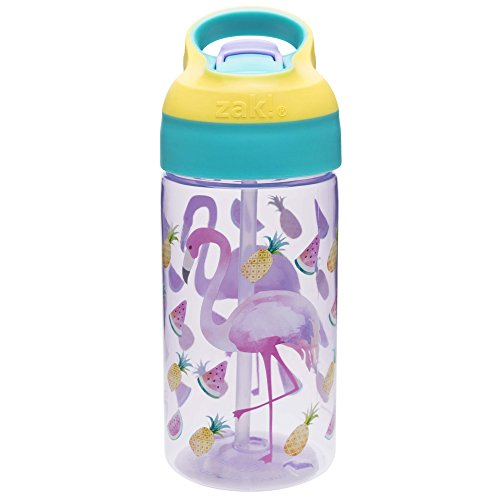 - Zak Designs 6821-T340 Riverside Water Bottles, 16 oz, Flamingo and Pineapple