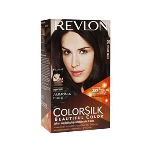 Revlon ColorSilk Hair Color, 20 Brown Black 1 ea