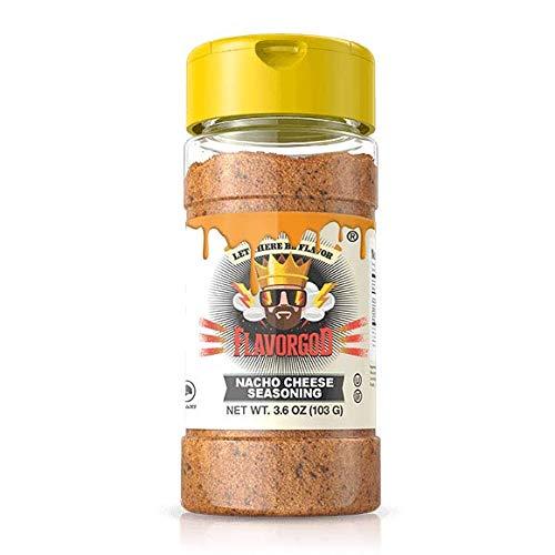 Nacho Cheese - #1 Best-Selling 5oz. Flavor God Seasonings - Gluten Free, Low Sodium, Paleo, Vegan, No MSG (Best Flavor God Seasoning)