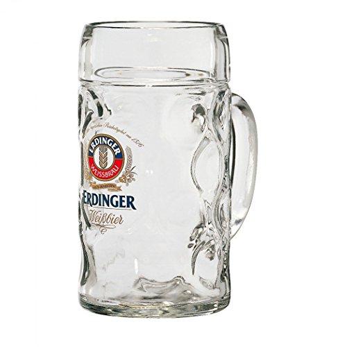 Erdinger German Dimpled Beer Stein Mug 1 Liter
