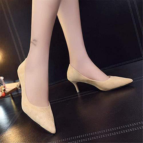 6 Tacco Scarpette Black colore Scarpe Alte Dimensione Basse Da 37 Col Punta Alto Cm Pendolari Eeayyygch Lavoro Silver 10cm Con Iq0wq