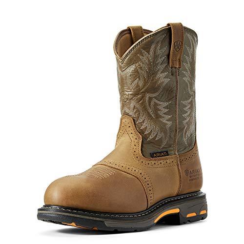 ARIAT Men's Workhog Waterproof Composite Toe Work Boot Aged Bark Size 10 N Us