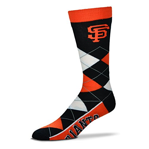 San Francisco Giants For Bare Feet Argyle Crew Socks, Multi, One Size Fits Most