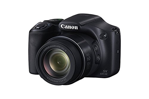 Canon PowerShot Digital Camera SX530 with 50x Optical Zoom, Built-in Wi-Fi and NFC - Black