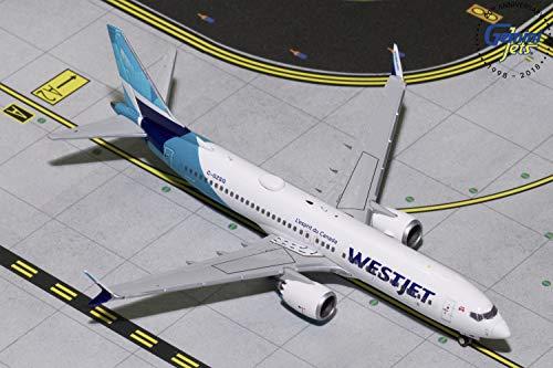 (GeminiJets GJWJA1822 Westjet Airlines B737 Max 8 C-Gzsg 1: 400 Scale Diecast Model Airplane, White)