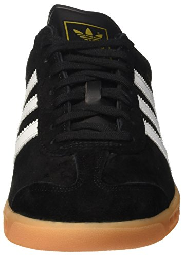 size 40 98486 0b244 adidas Herren Hamburg Low-Top Schwarz (Core BlackFtwr WhiteGum) ...