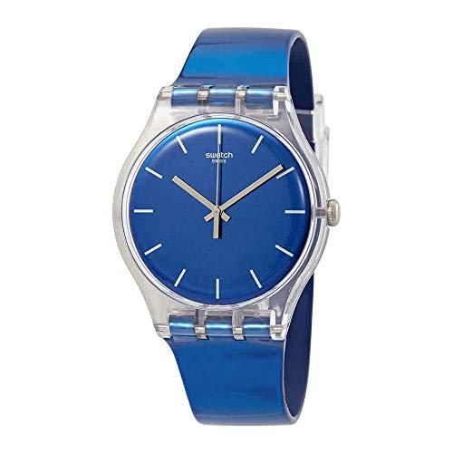 - Swatch Men's Digital Quartz Watch with Silicone Bracelet - SUOK126