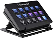 Elgato Stream Deck - Live Content Creation Controller with 15 Customizable LCD Keys, Adjustable Stand, for Windows 10 and ma