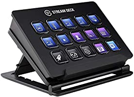 Elgato Stream Deck - Live Content Creation Controller with 15 Customizable LCD Keys, Adjustable Stand, for Windows 10...
