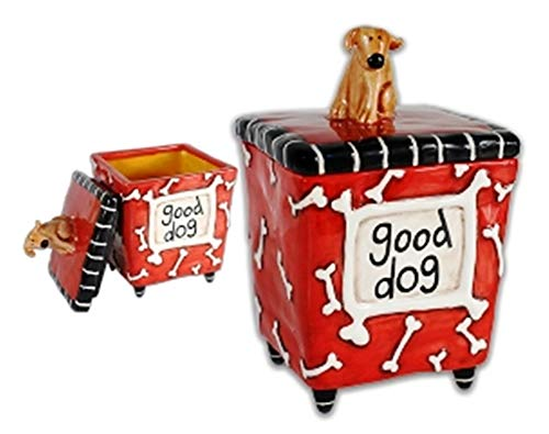 Allen Designs Studio Collection Dog Treat Jar, Good Dog, Retired