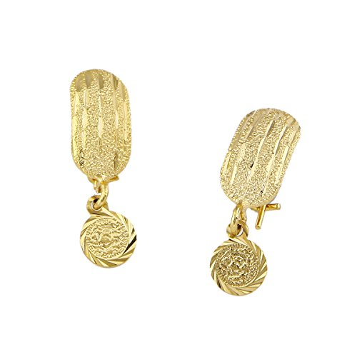 Africa Earrings with Coins Dangle Girl Gold Color Small Metal Coins Earrings Arab Middle Eastern Jewelry