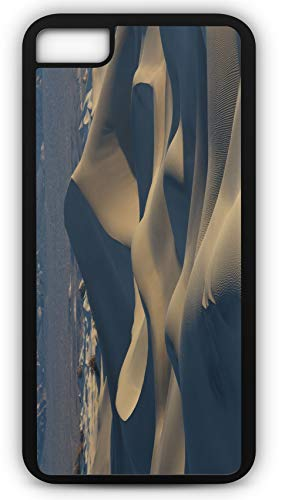 iPhone 8 Case Desert Sand Dunes Death Valley Nature Customizable by TYD Designs in Black Plastic Black Rubber Tough Case