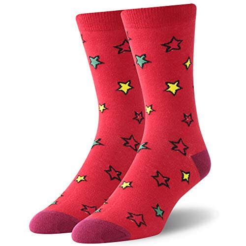 Christmas Holiday Casual Socks,SUTTOS Men's Colorful Socks Men's Womem Christmas Cartoon Socks,Christmas Dress Colorful Socks,Crew Socks Warm Winter Gift Socks,3 Pairs
