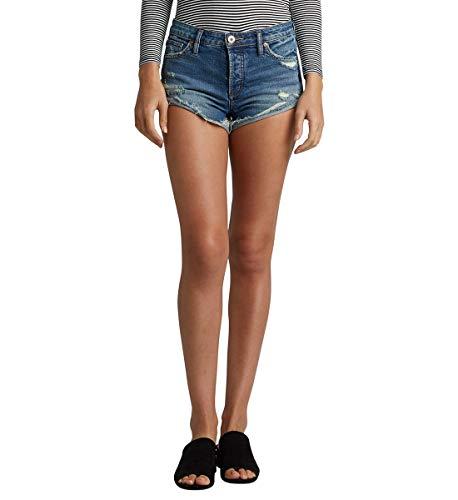 (Silver Jeans Co. Women's Hello Shorty Denim Shorts, Medium Vintage, 33W x 2.5L)