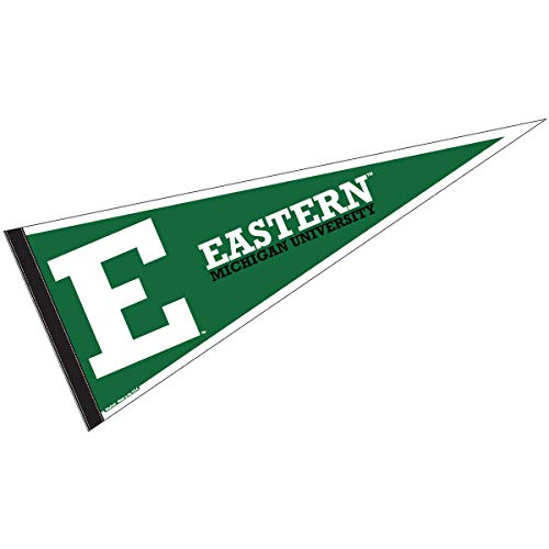 (College Flags and Banners Co. Eastern Michigan University Pennant Full Size Felt)