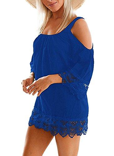 Leezeshaw - Camisola - para mujer Azul
