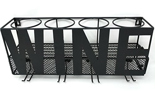 Gianna's Home Metal Wall Mounted Wine Rack and Cork Holder (Wine)