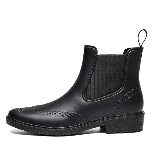 De Chelsea Putu Chaussures Pluie Bottines Imperméables Boots Bottes Noir Femme Rain qxqISywp5r
