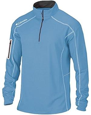Golf Omni-Wick Shotgun 1/4 zip long sleeve pullover(WhiteCap Blue)
