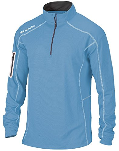 Columbia Golf Omni-Wick Shotgun 1/4 zip long sleeve pullover(WhiteCap Blue) - Pullover Long Mens Sleeve
