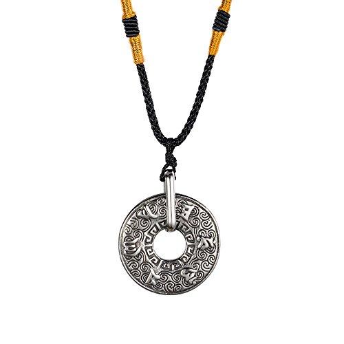 INRENG Men's Stainless Steel Tibetan Buddhist Om...