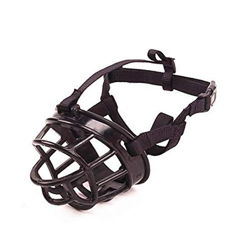 JWPC Adjustable Anti-Biting Dog Soft Silica Gel Muzzle, Breathable Safety Pet Puppy Muzzles Mask for Biting/Barking/Chewing,Black 3