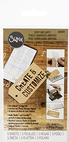 Sizzix 663534 Accessory Sticky Grid Sheets 2 x 4 1/2