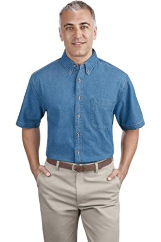 Port & Company Short Sleeve Value Denim Shirt>3XL Faded Blue SP11