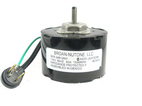 NuTone 23405ser Ventilation Fan Motor by Nutone