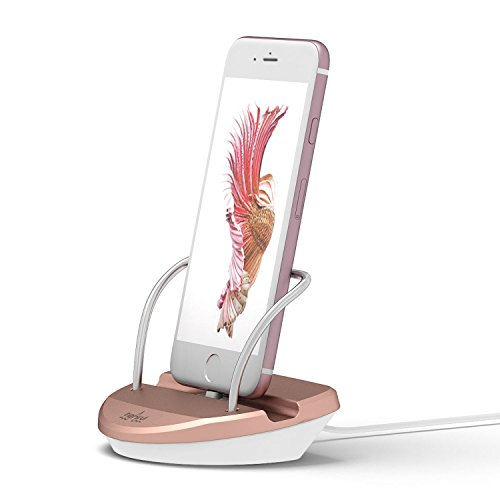 WINSTION iPhone Stand Charging Dock Desk Station Holder Easy Desktop Charging Station for iPhone 7 /7Plus/SE/6S Plus/6/6Plus/5S/5 (Rose Gold) Usb Sync Charge Desktop Docking