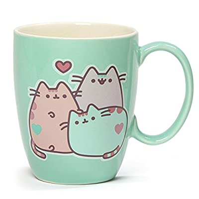 Cat Fan related Products Enesco 4060150 Pusheen The Cat Pastel Stoneware Mug, 12 oz., Green [tag]