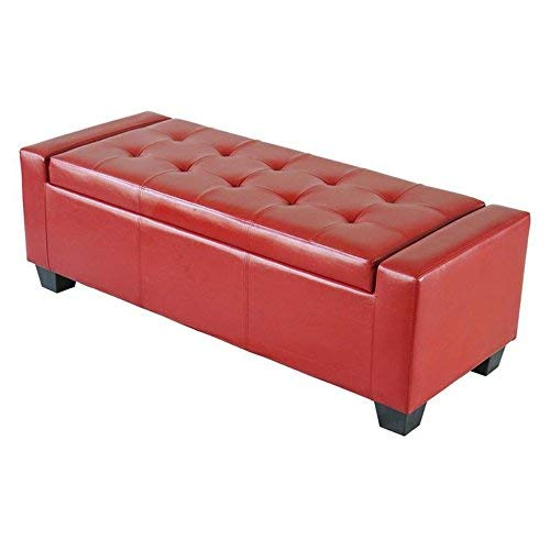 Amazon Com Homcom 51 Quot Faux Leather Unique Tufted Storage
