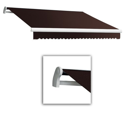 Retractable Manual Maui Awning (Awntech 10-Feet Maui-LX Left Motor with Remote Retractable Acrylic Awning, 96-Inch Projection, Brown)