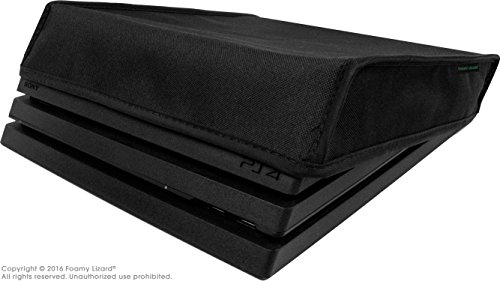 Playstation-4-Pro-Dust-Cover-2016-PRO-Model-by-Foamy-Lizard–THE-ORIGINAL-MADE-IN-USA-TexoShield-TM-premium-ultra-fine-soft-velvet-lining-nylon-dust-guard-with-back-cable-port-Horizontal