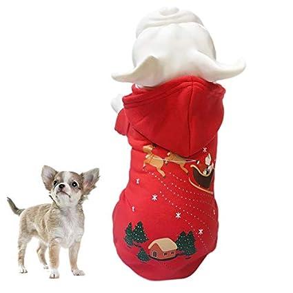 Amazon.com : Ulmenco Pet Dog Jacket Christmas Clothes Teddy ...