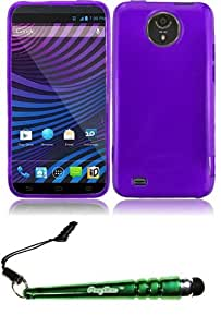 FoxyCase(TM) FREE stylus AND For ZTE Vital N9810 Frosted TPU Cover Case - Purple cas couverture