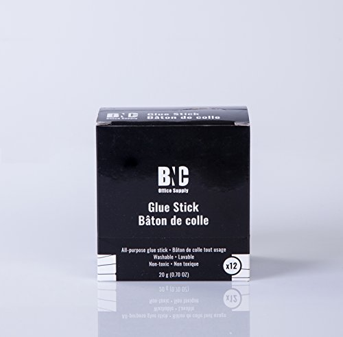 BNC Washable All-Purpose School Glue Stick, 20 Gram, Pack of 12 by BNC Office Supply (Image #7)'