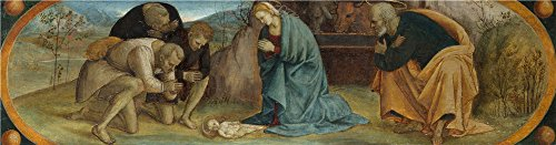 Shepherd Topiary (Oil Painting 'The Adoration Of The Shepherds', 18 x 69 inch / 46 x 175 cm , on High Definition HD canvas prints is for Gifts And Bath Room, Garage And Laundry Room Decoration, very large)