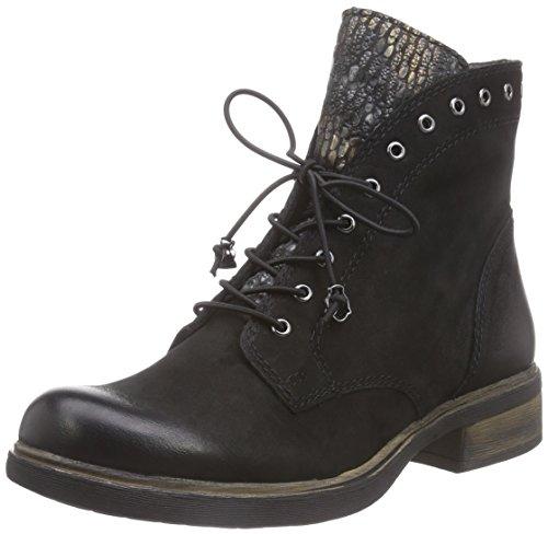 Tamaris 25229 Damen Combat Boots Schwarz (Black Comb 098)