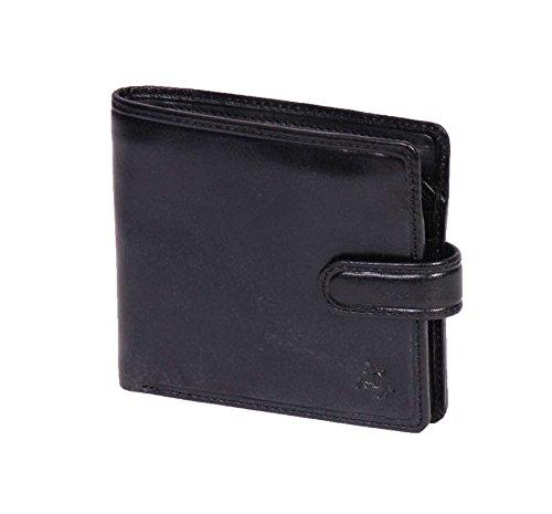 RFID Herren Brieftasche Hochwertiges SCHWARZ Leder Bifold Schlank ID Kreditkartenhalter Geschenk BOXED - Naples