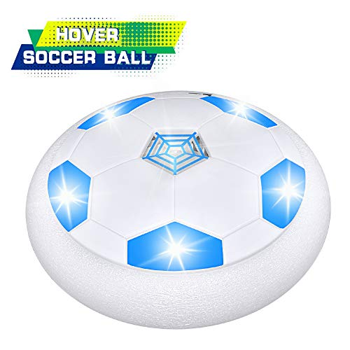 Birthday Gifts for 5-8 Year Old Boys, SOKY Led Hover Soccer Ball Indoor Outdoor Games Football Sports Games for Kids Age 6-12 Christmas Toys Top Gifts Stocking Fillers for Kids Boys Blue SKUSHS03