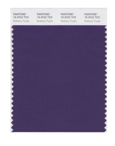 PANTONE SMART 19-3722X Color Swatch Card, Mulberry - Mulberry Dyed