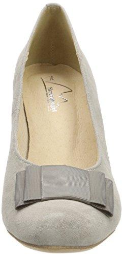 031 1004504 De grau Tacón Con Gris Hirschkogel Para Punta Mujer Zapatos Cerrada P4dw4Cq1