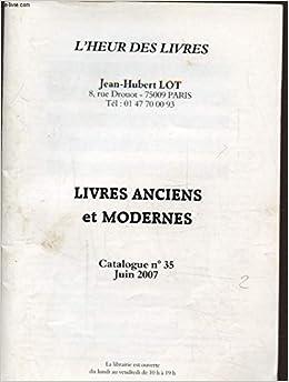 Amazon Fr Livres Anciens Et Modernes Catalogue N 35 Jean