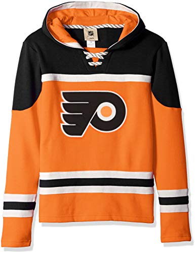 Outerstuff NHL NHL Philadelphia Flyers Youth Boys Asset Pullover Hockey Hoodie, Orange, Youth X-Large(18)