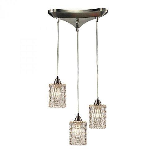 - ELK Lighting 10343/3 Kersey Collection 3 Light Chandelier, 8 x 10 x 10