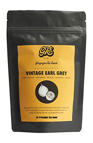 Earl Grey Tea Bags - 20 Count - Assam Black Tea Blended With Premium Bergamot Oil - Directly Shipped from Our Family-Owned Estate in India - Fresh 2019 Harvest - - Black Tea Bergamot Assam