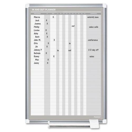 Bi-Silque MasterVision Magnetic In/Out Vertical Planner B...