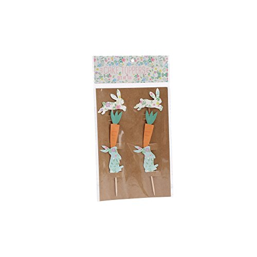Cgb Giftware Easter Paper Cake Toppers  6 Pack   One Size   Multicolored