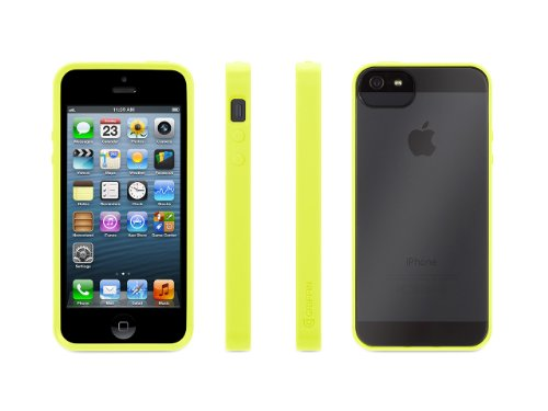 Griffin Itrip Iphone - Griffin 605462-RVFC Reveal Case for iPhone 5-1 Pack - Retail Packaging - Flouro Citron/Clear